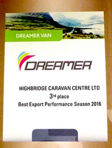 Dreamer 3rd Place - Best Export Performance