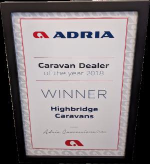 Adria Caravan Dealer of the year 2018