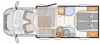 2022 Dethleffs Trend T 7057 DBL New Motorhome